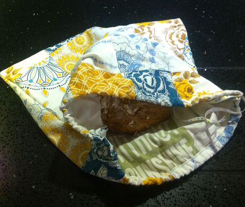 August: A patchwork bread bag