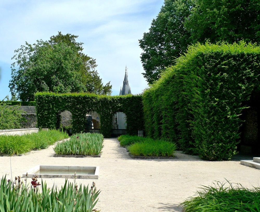 A cloistered garden