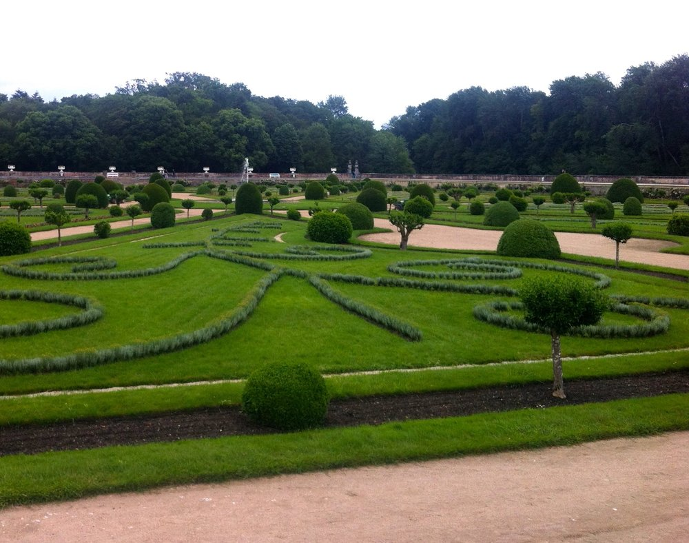 The formal gardens at Château de Chenonceau