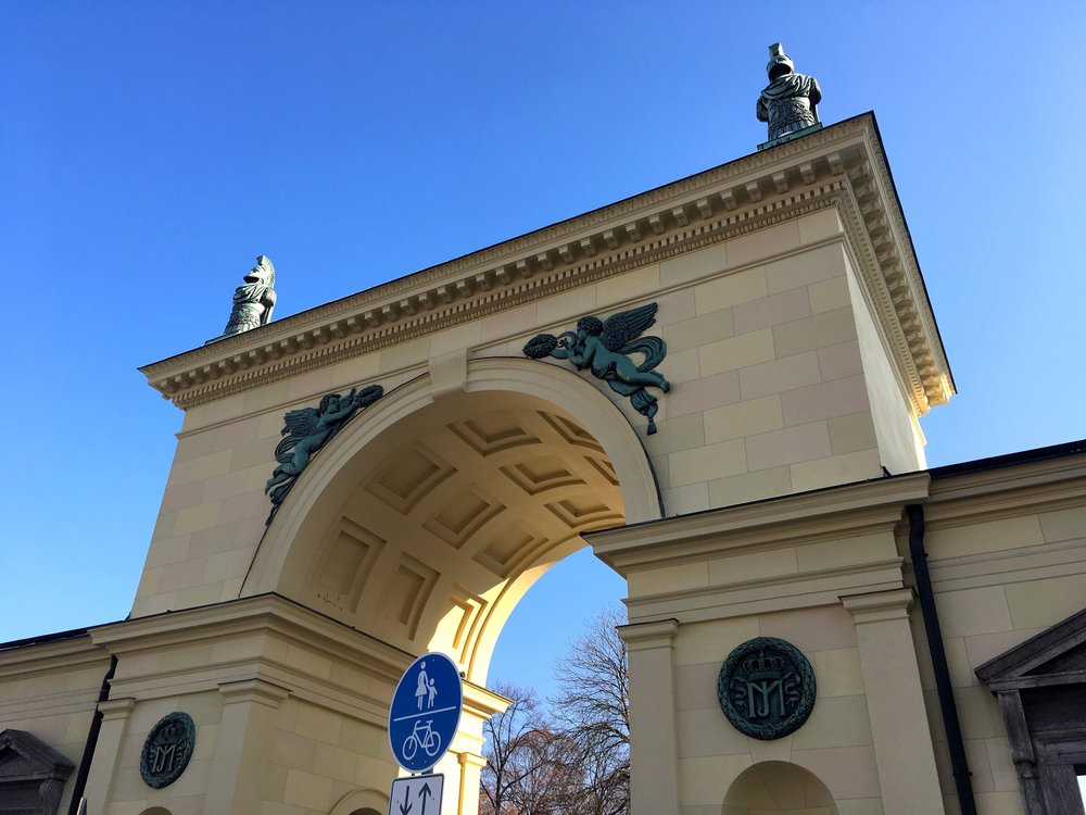 Heading through the arch into Munich's Hofgarten