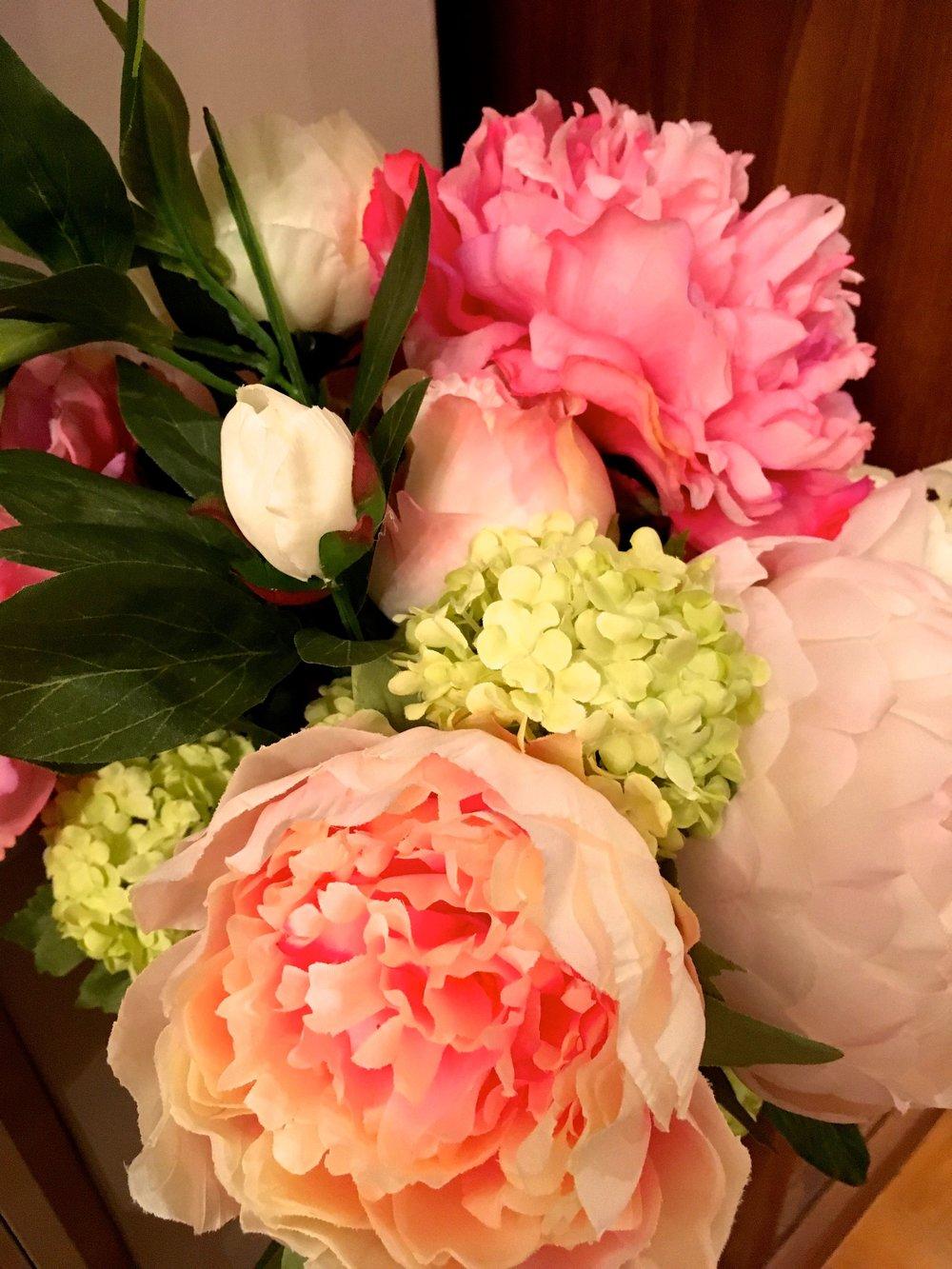 A close up of my Homesense Valentines bouquet