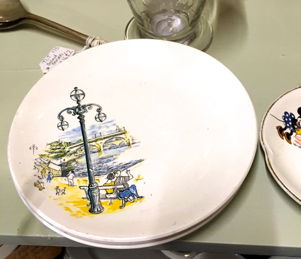 A pretty scene on a couple of side plates