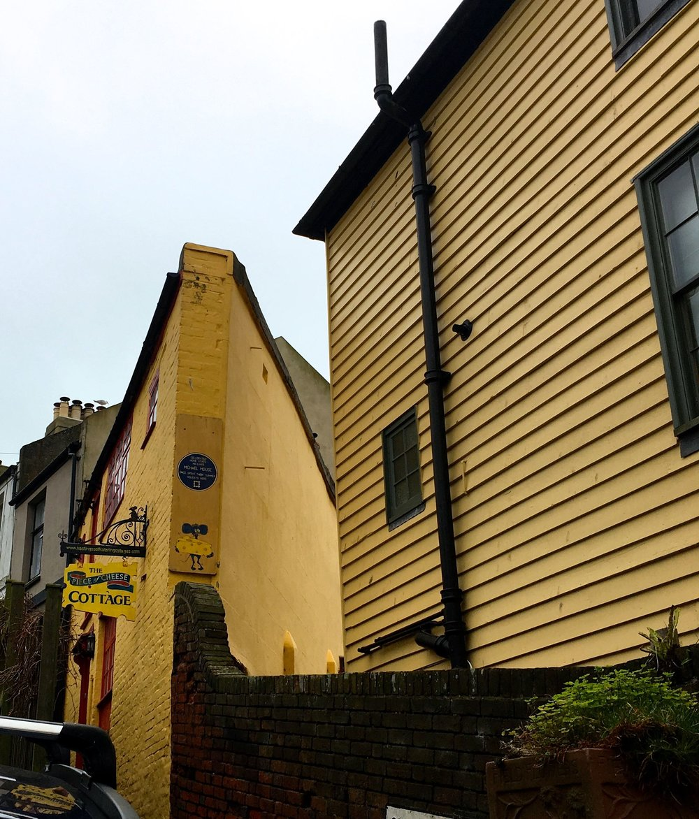 The cheddar cheese house in Hastings Old Town