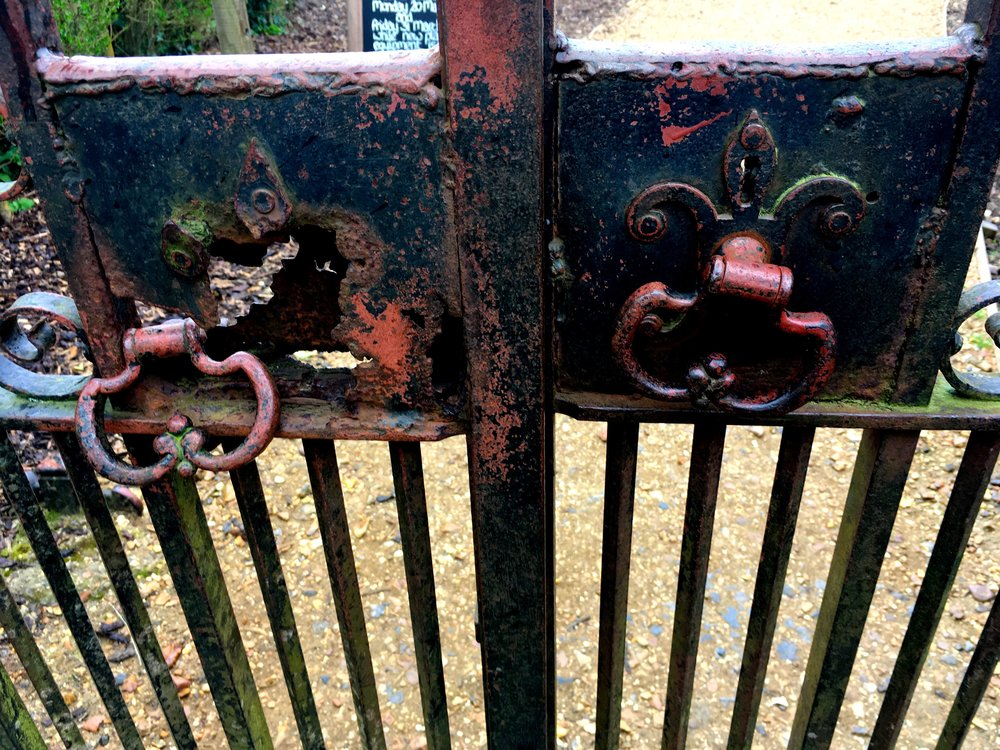 THE GATES TO THE KITCHEN GARDEN AT KINGSTON LACY