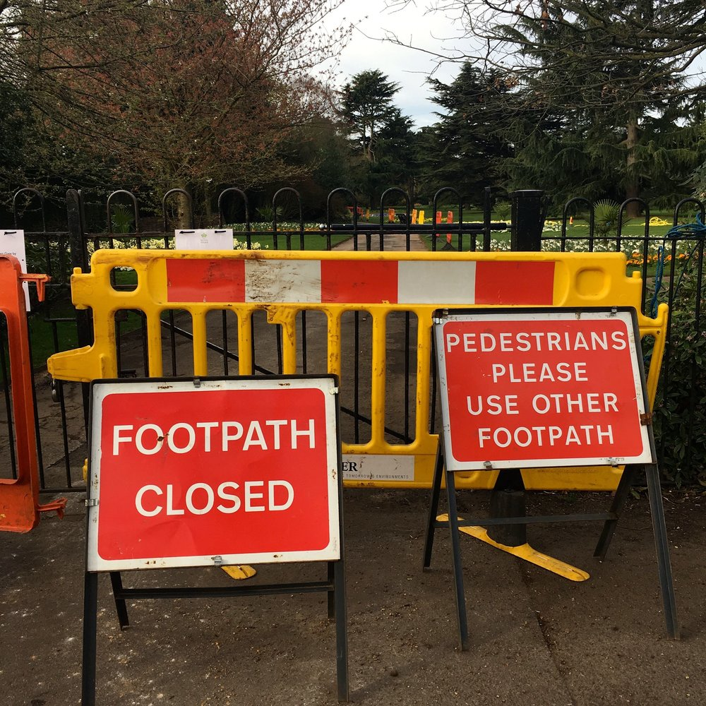 Pathworks - or roadworks - in Greenwich Park London