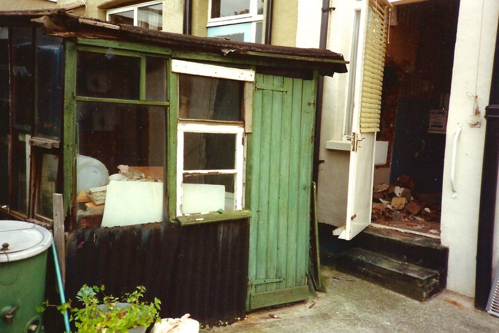 A GARDEN SHED THAT WAS AS RICKETY AS IT LOOKS
