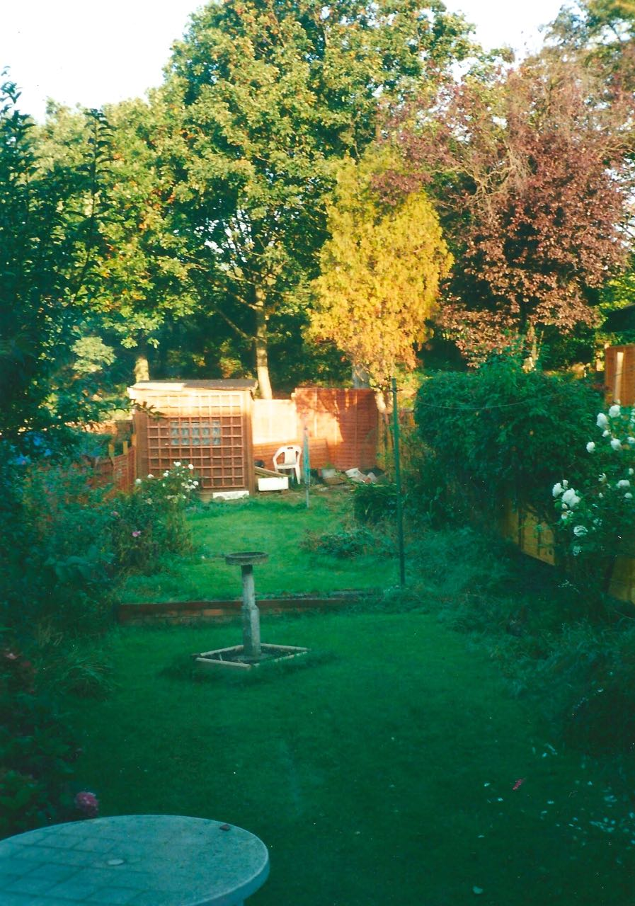 IN 2000 WHEN THE GARDEN IS MORE ESTABLISHED AND MATURE, YOU'D NEVER KNOW, WOULD YOU?