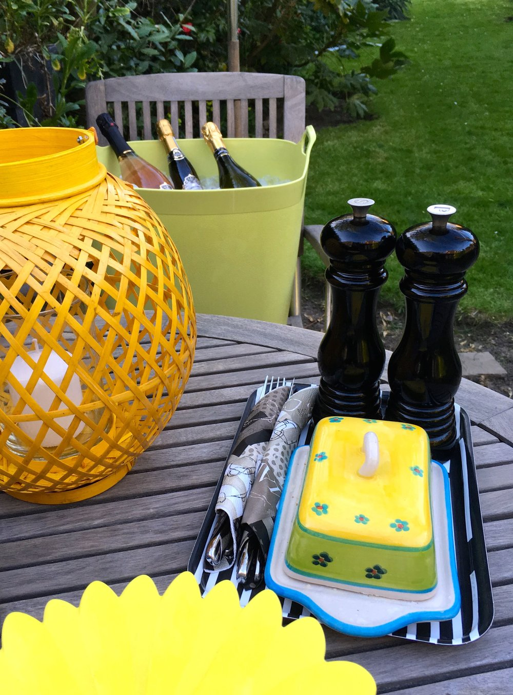 A barbecue with prosecco on ice is a great way to end the warmest day of the year (so far)