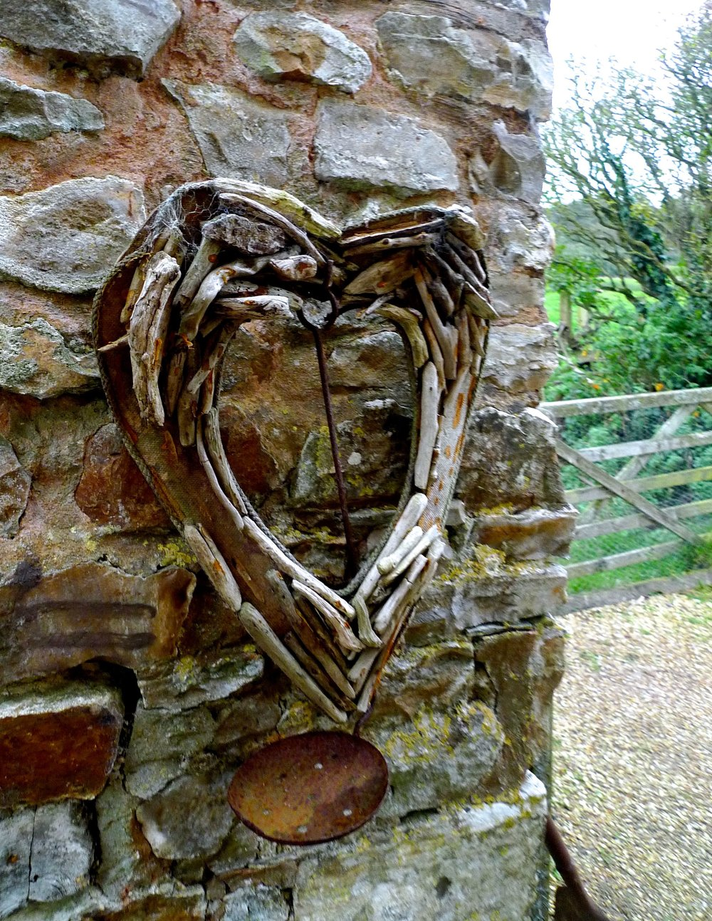 A driftwood heart which sums up my feelings for the garden at River Cottage HQ