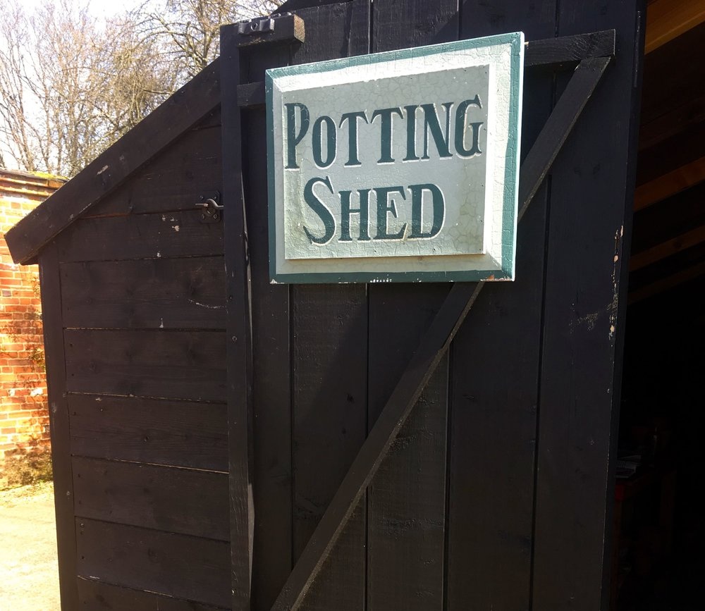 Mottisfont is a large estate, and yes I'm showing you a shed