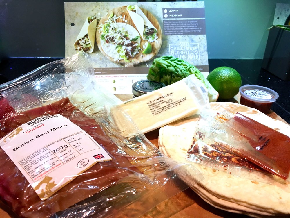 sticky chilli beef burritos and lime mayo - recipe and ingredients by Gousto