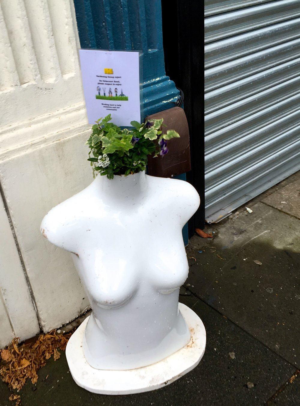AND OF COURSE, A TORSO OUTSIDE THE WELLBEING CENTRE