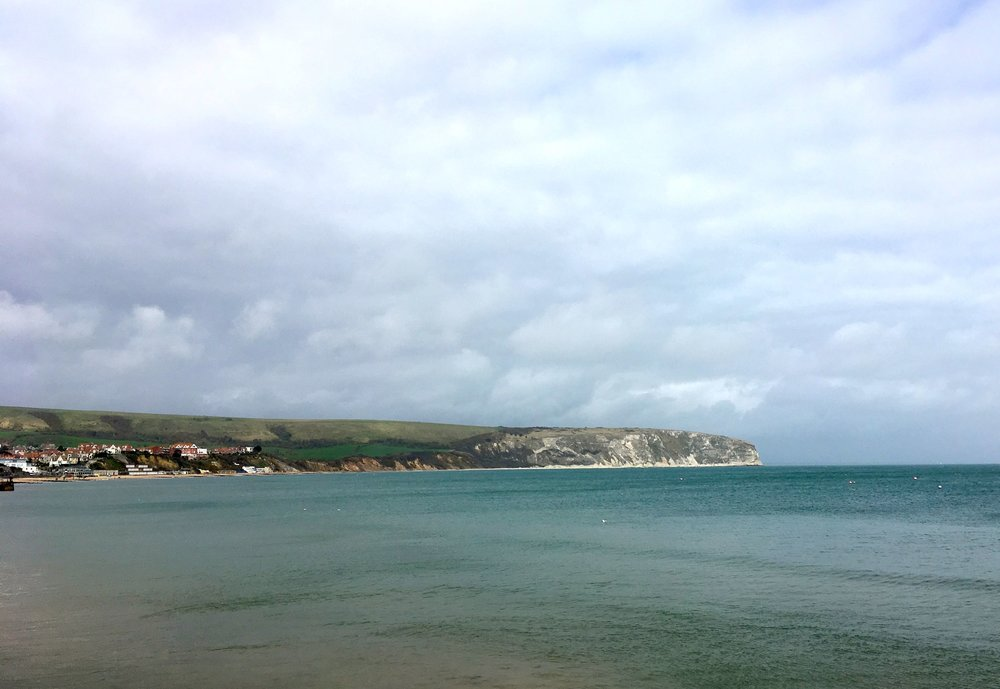 Looking across the bay at Swanage in Dorset
