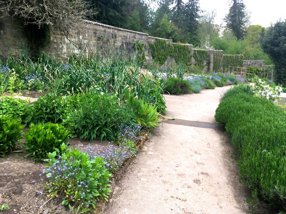 the path leading you around the walled garden at Gravetye Manor in Sussex