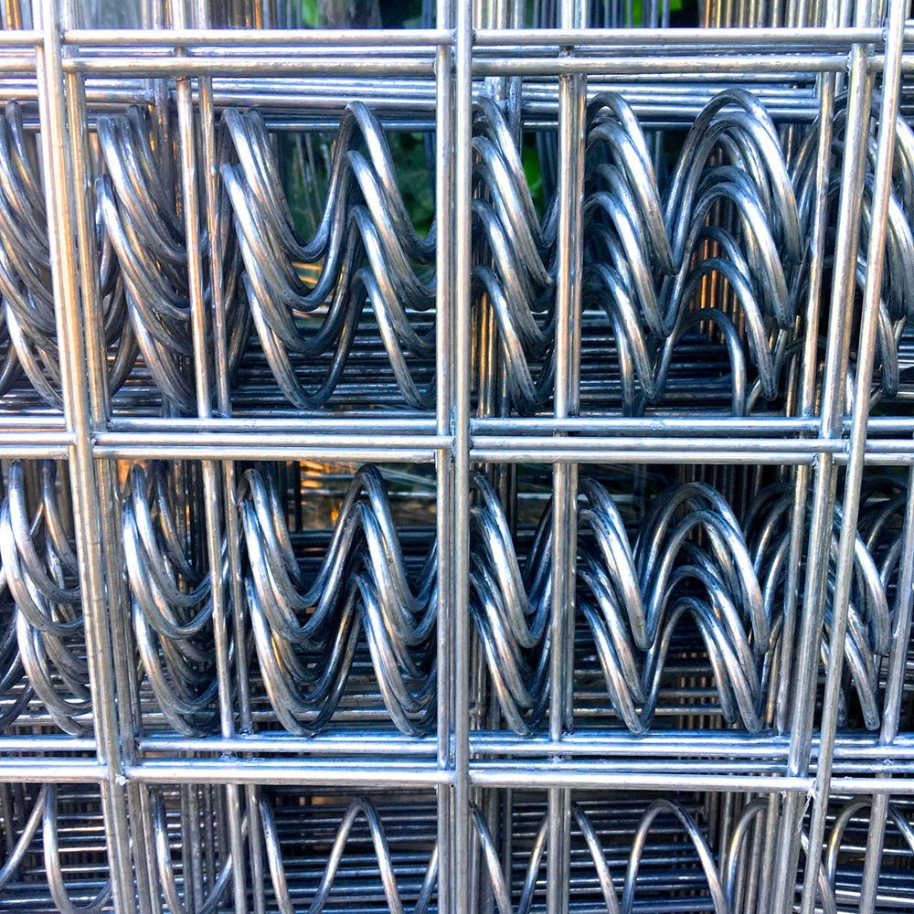 A close up of the helicoils which we'll use to secure our gabion baskets