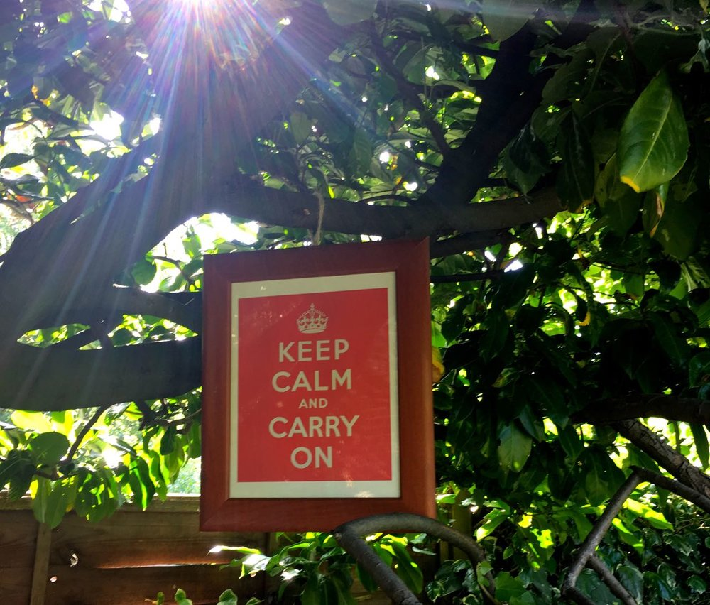 Keep calm and carry on - I knew it'd get hot by the pizza oven.