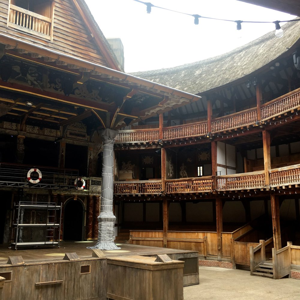 Inside the theatre at the Globe in London with 365 tickets