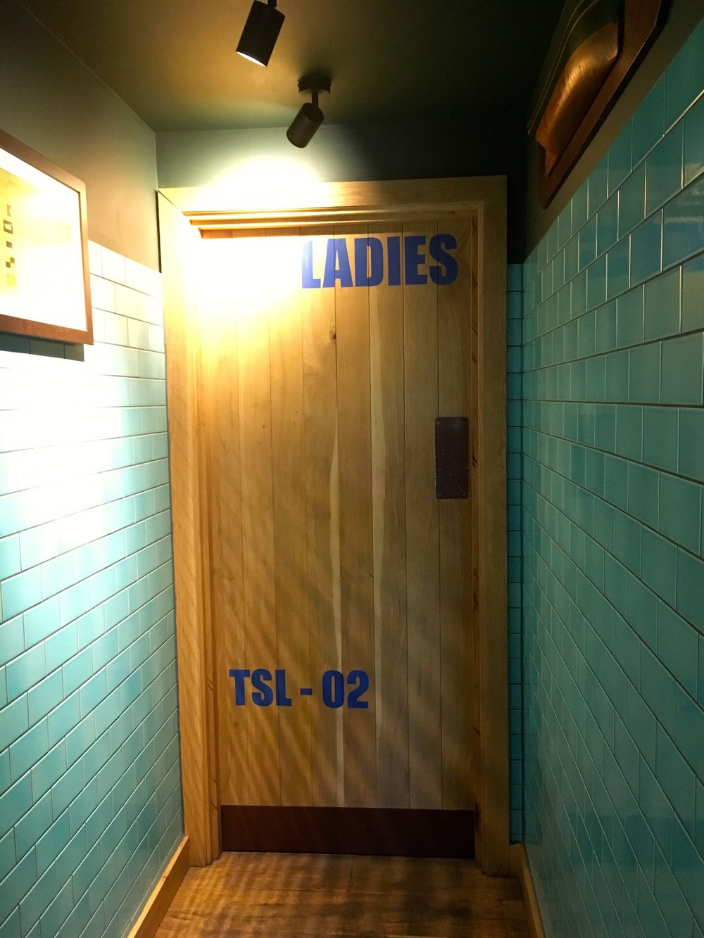 The door to the Ladies in the Sail Loft at Greenwich hinted at something special