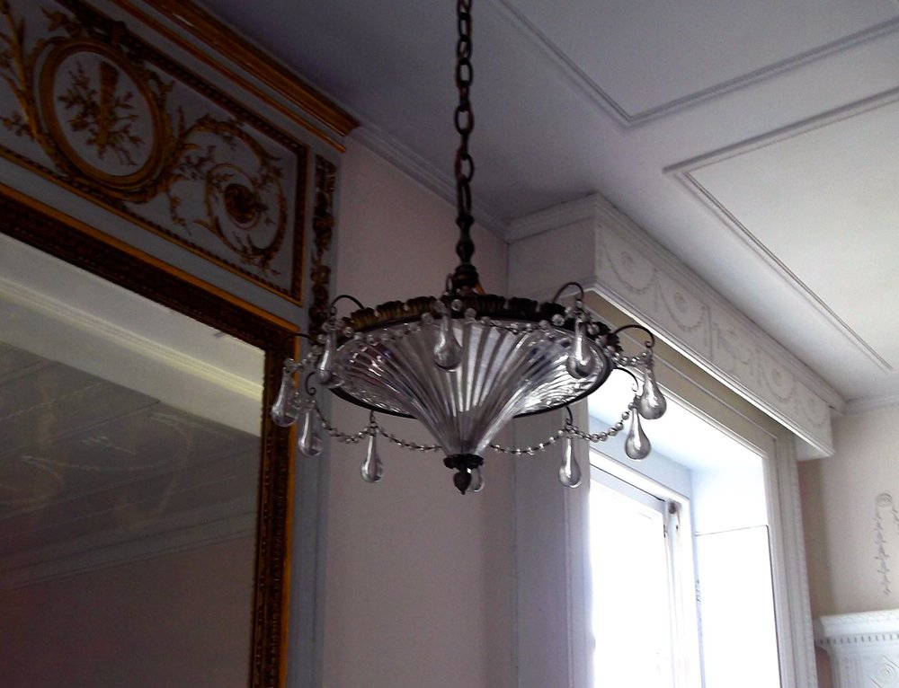 A PENDANT LIGHT AT POLESDEN LACEY IN SURREY