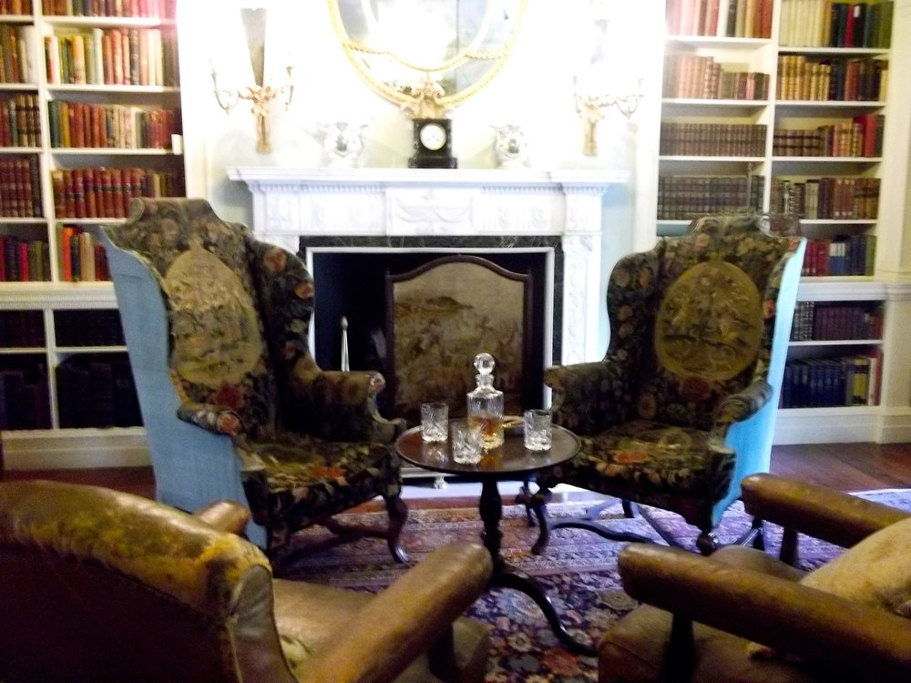 WING CHAIRS AT POLESDEN LACEY