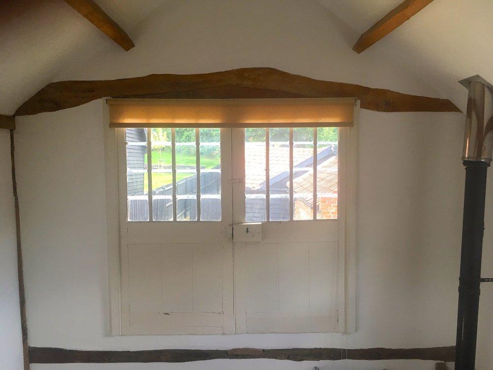The original doors at Oak Hill Granary in Fressingfield