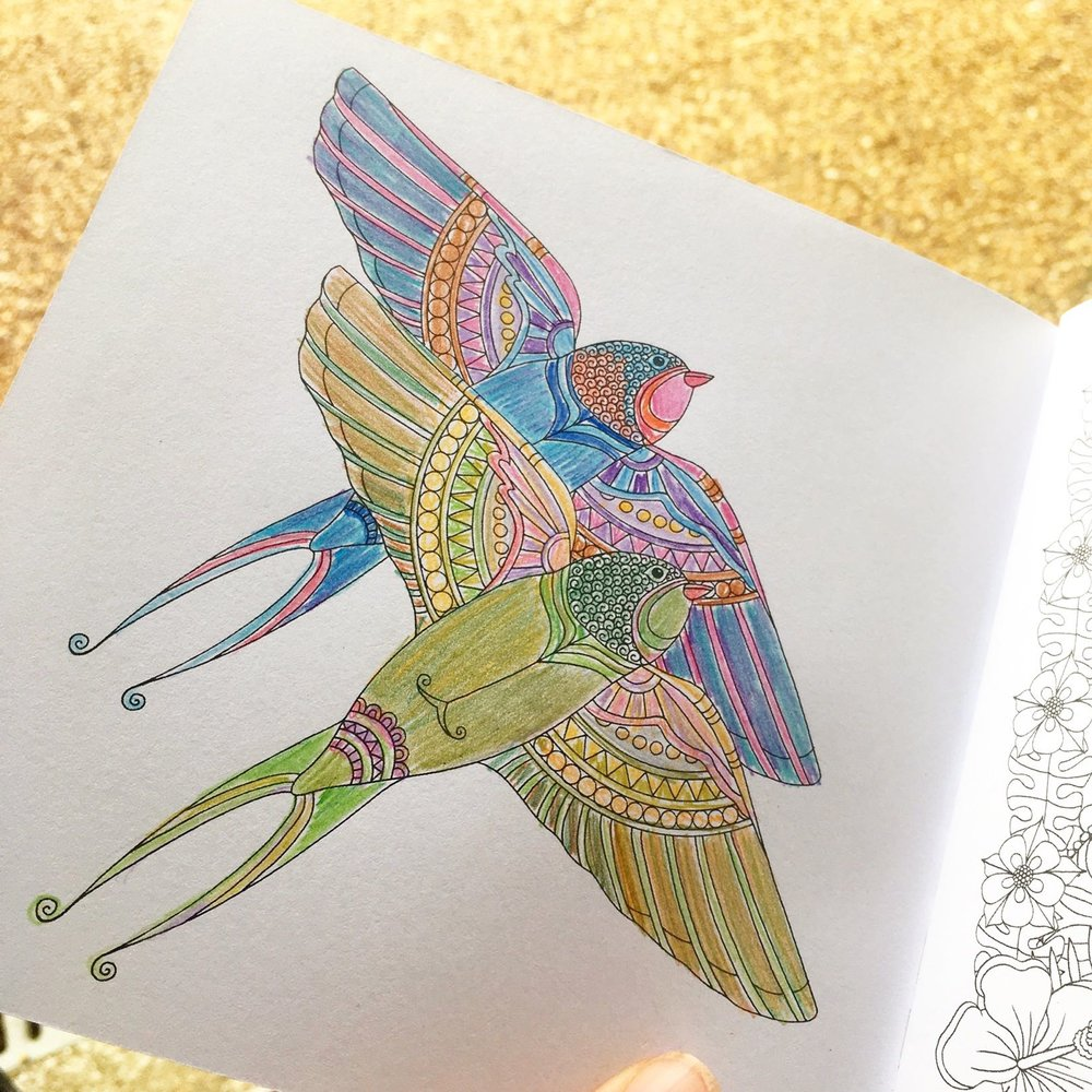 Creating my own art and taking some time to do some mindful colouring at Oak Hill Granary in Fressingfield