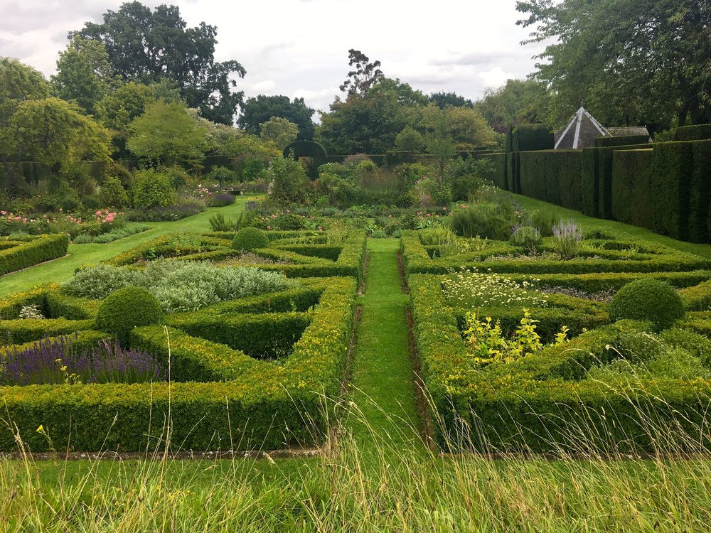 The knot garden at Helmington Hall