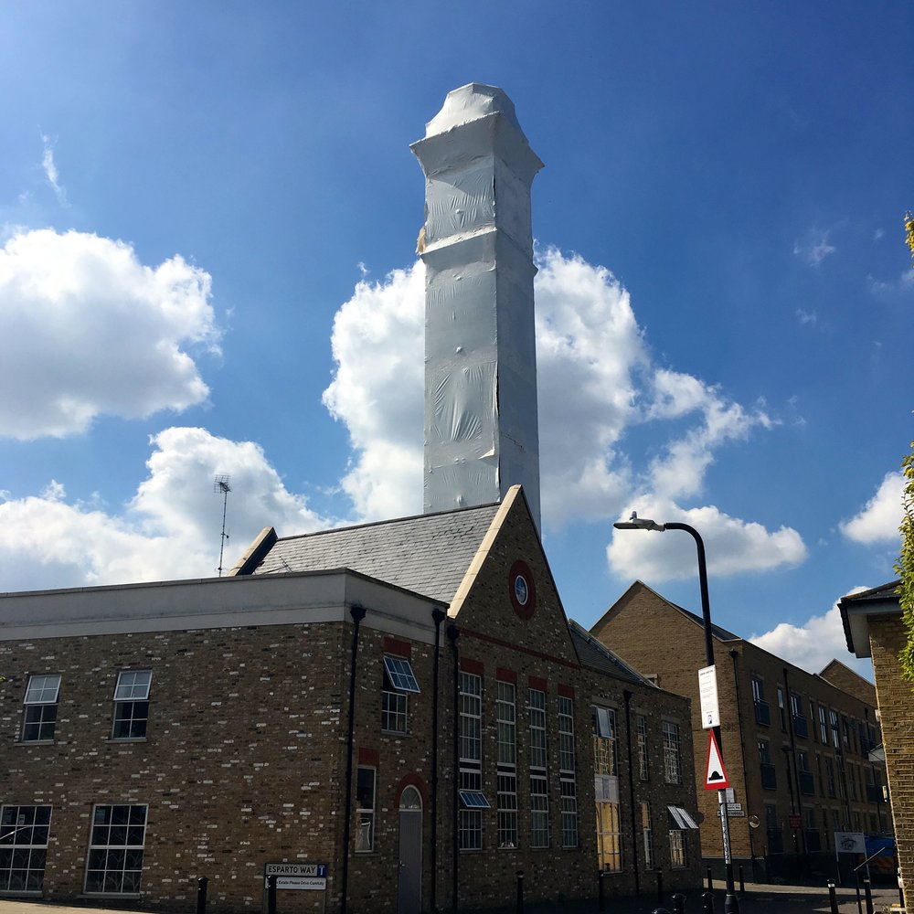 "THE MILL TOWER IN SOUTH DARENTH WHICH APPEARS TO HAVE BEEN ""CLING FILMED"""