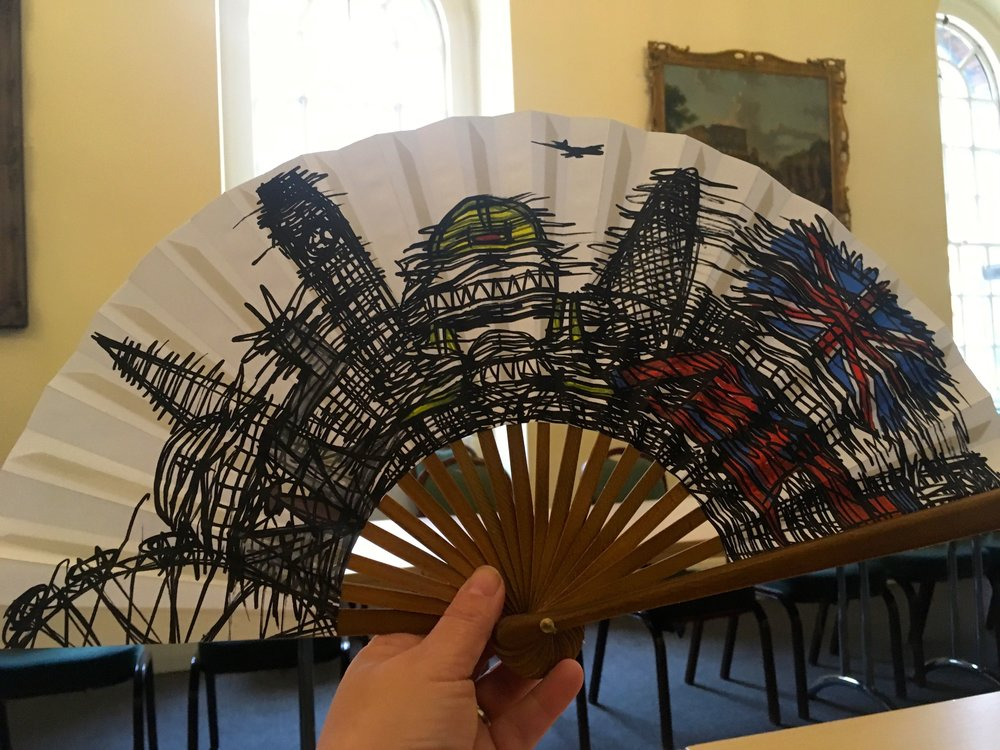 My Nathan Bowen fan made with help from experts from the Fan Museum in Greenwich