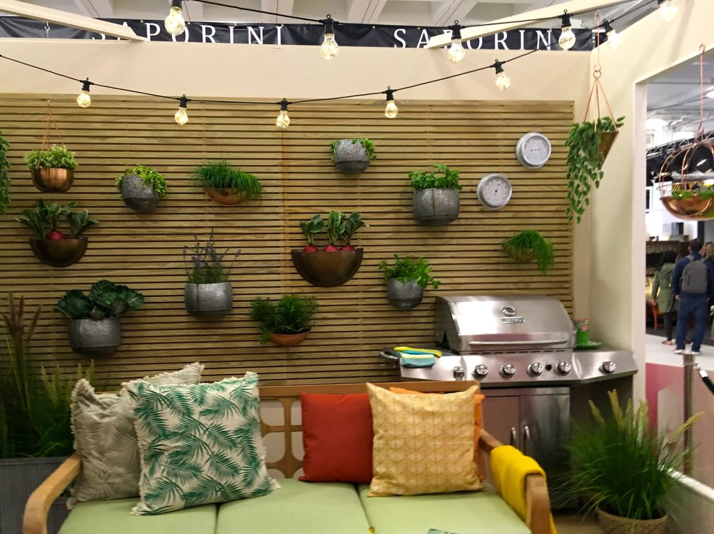 making use of the vertical space  in the living room at the Ideal Home Show roomset