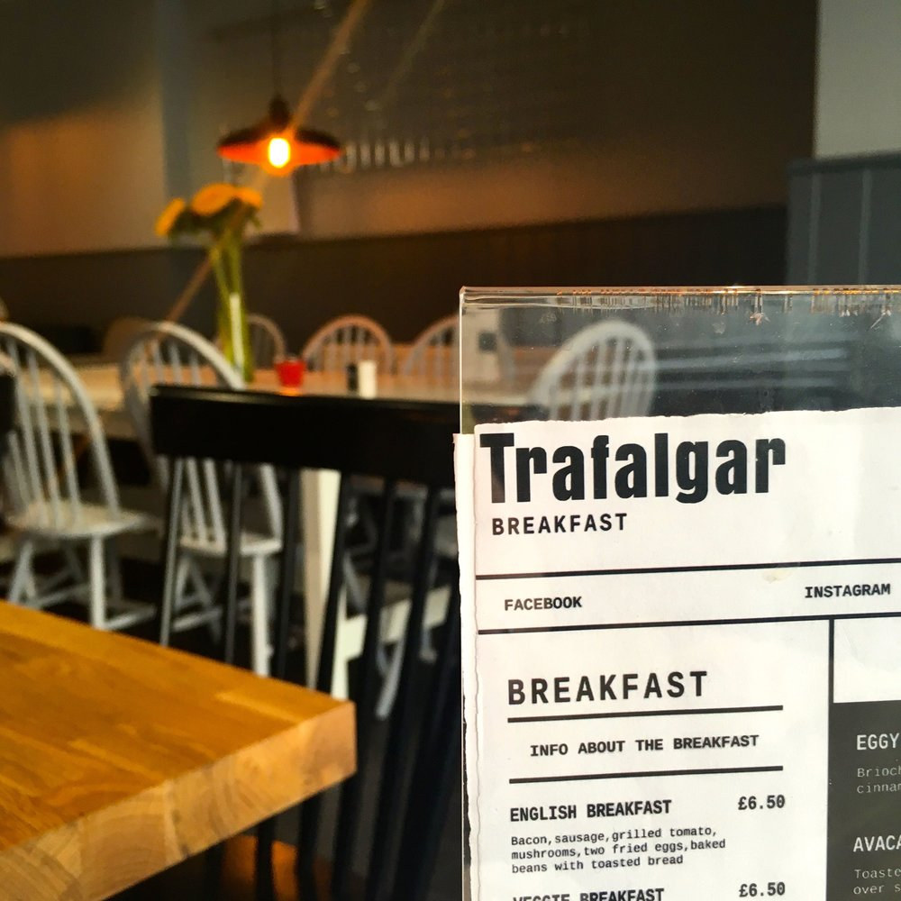 Breakfasts at the Trafalgar Cafe