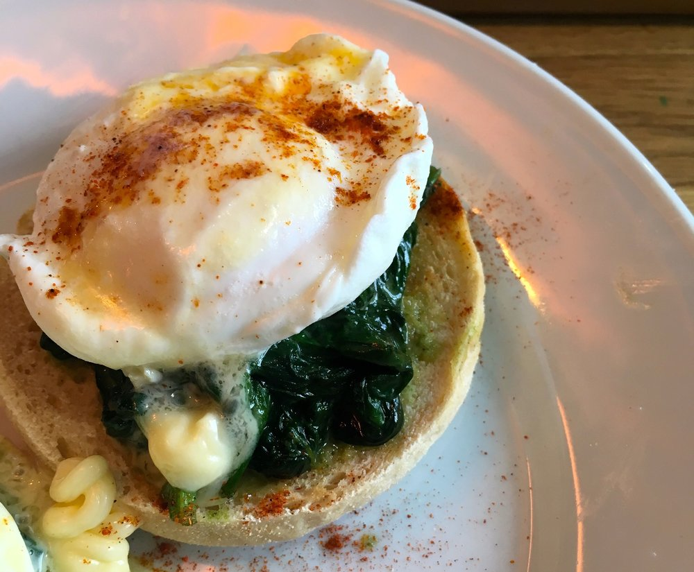 Eggs florentine at the Trafalgar Cafe in Greenwich