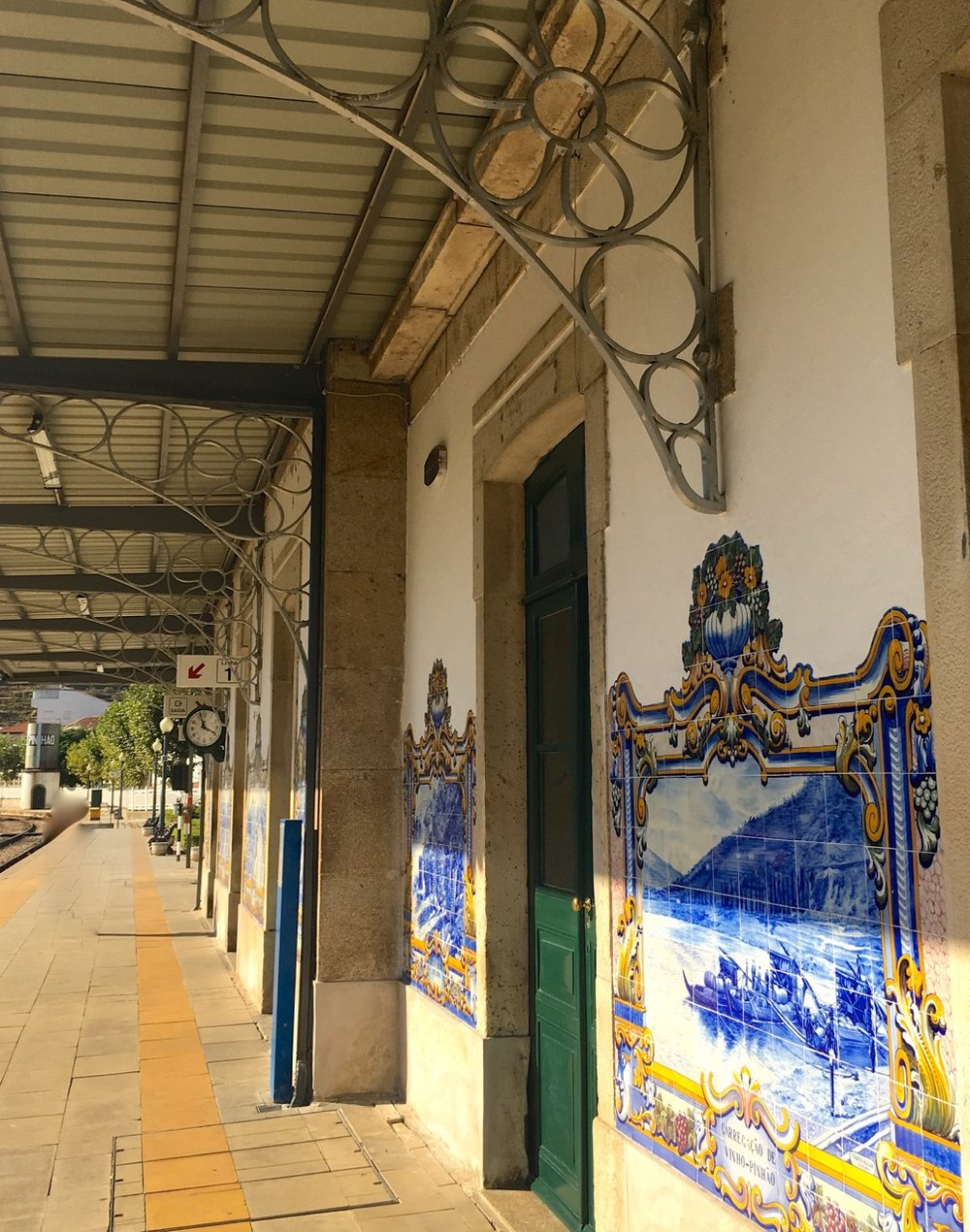 The tiled murals at Pinhao station were a tourist attraction in their own right