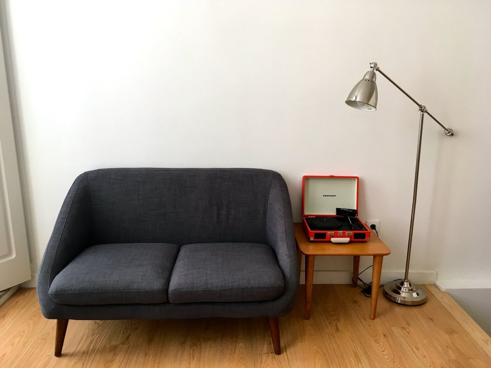 mid century modern furniture in our porto apartment