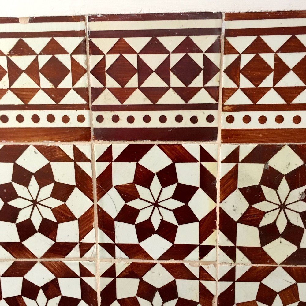 Tiles in the lobby area outside were a little more traditional
