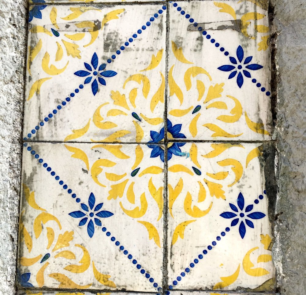 faded glory about and  tiles in Porto