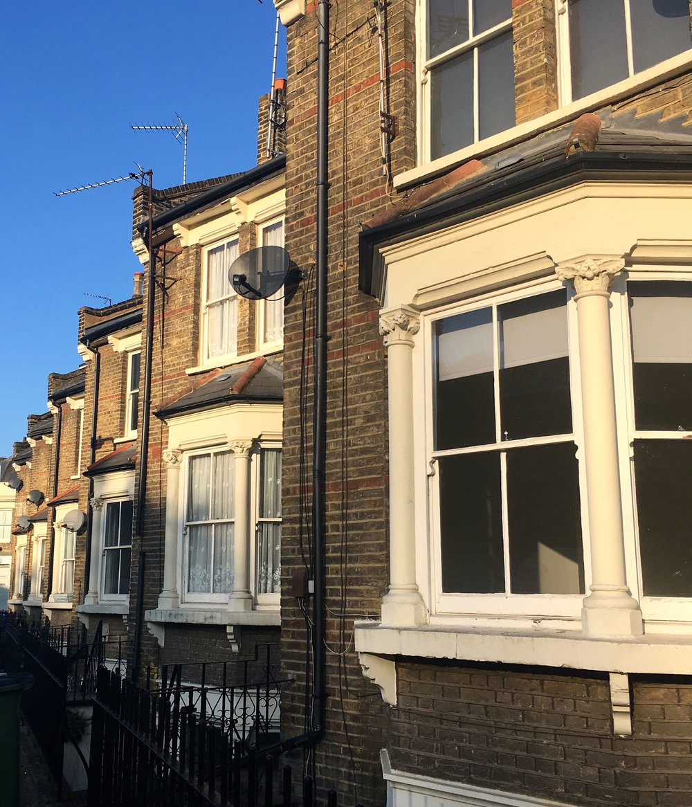 a traditional row of terraced houses in Greenwich, or are they