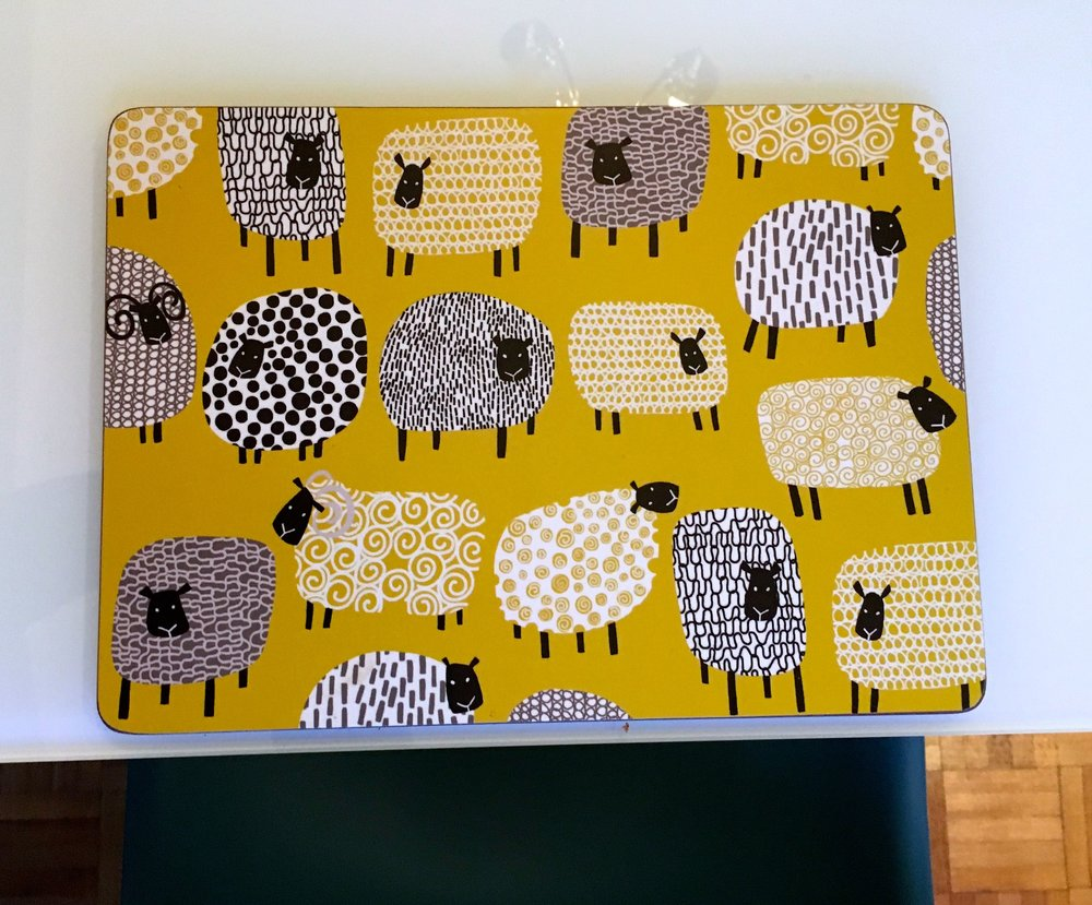 New, yellow and funky table mats from Wayfair