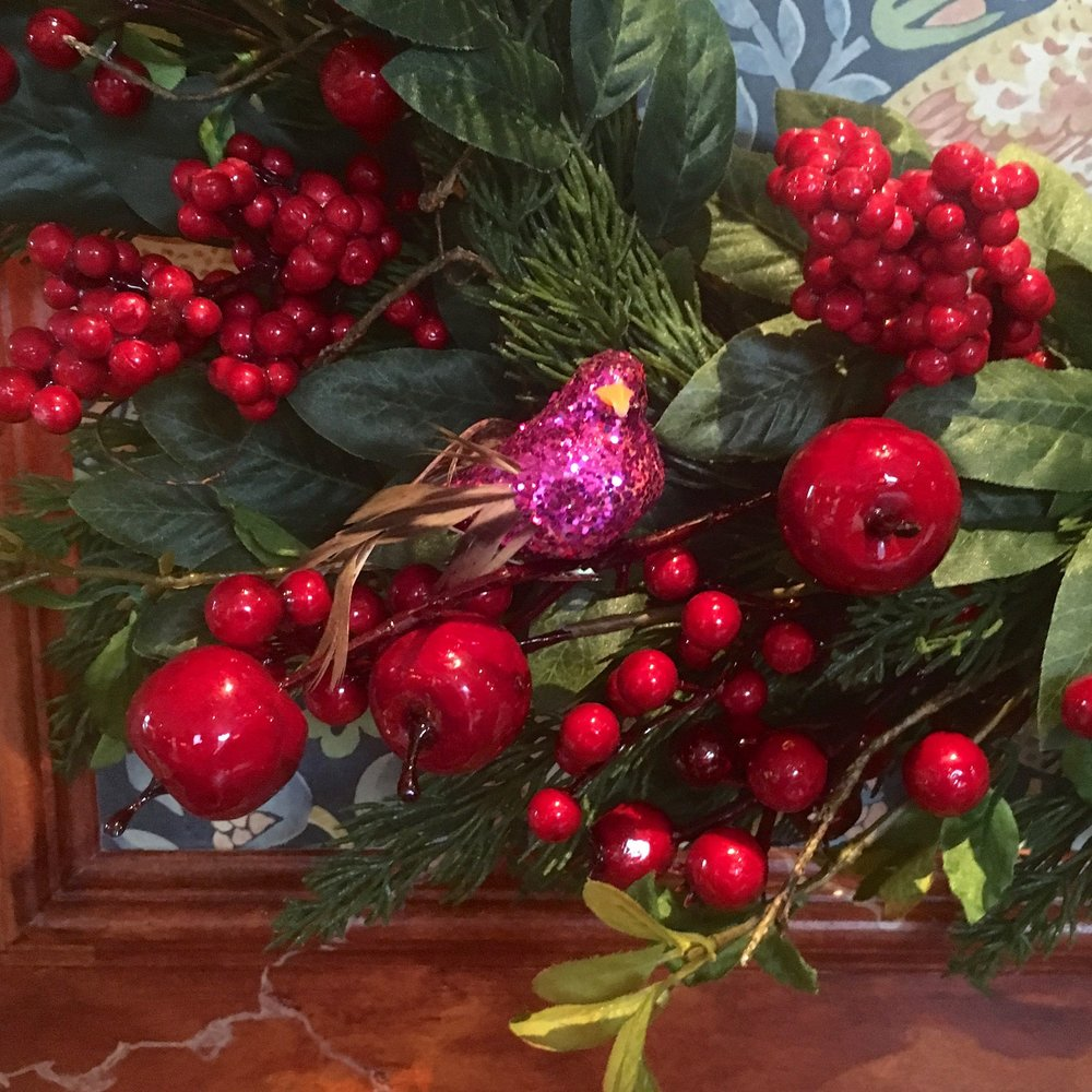 berries and birds on this festive wreath from HomeSense