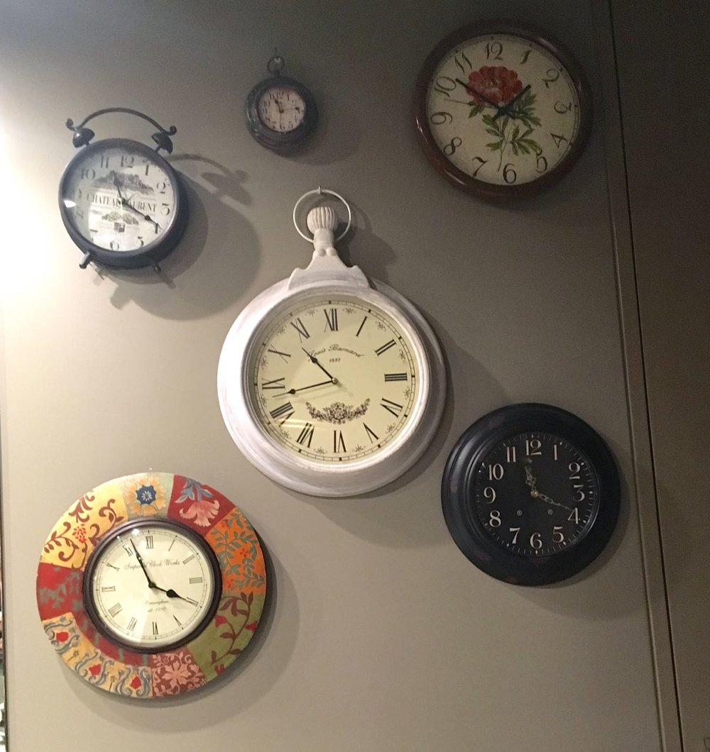 And on the other wall - plenty of time