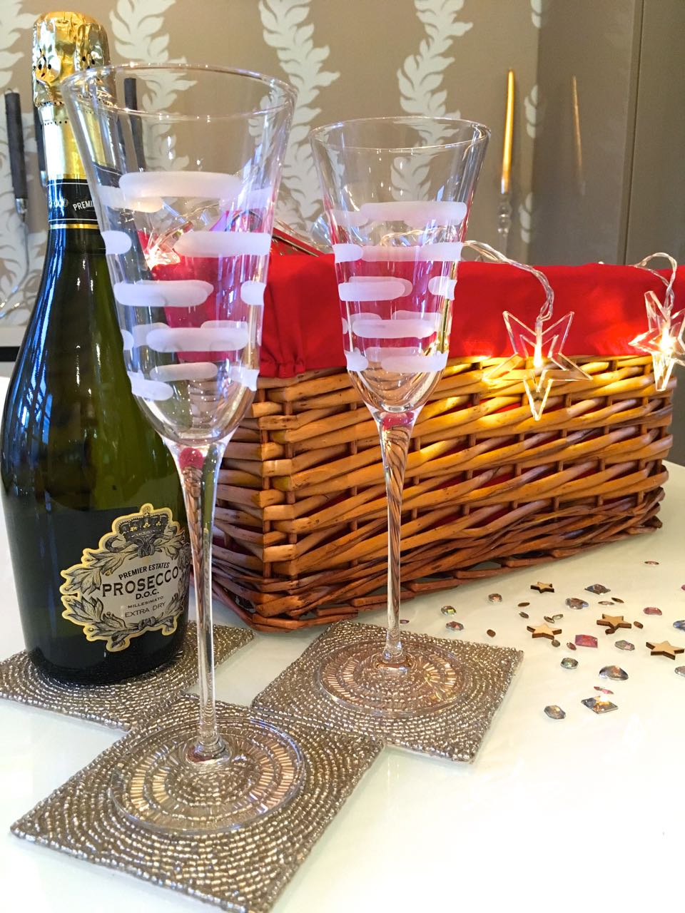 Sparkle and fizz for my Homesense hamper