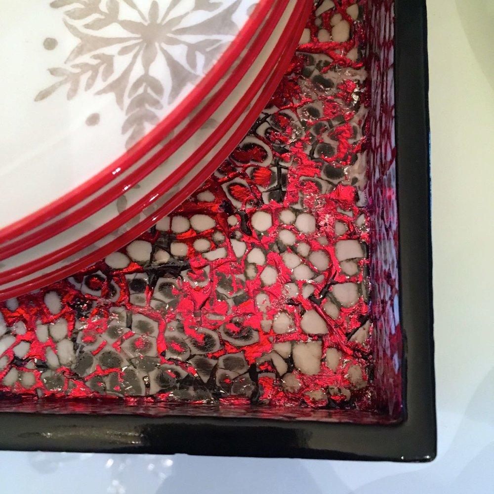 reds, whites, blacks and grey tableware  from Homesense