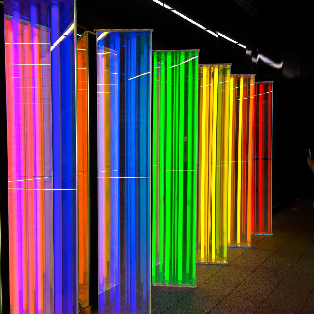 January: Winter lights at Canary Wharf