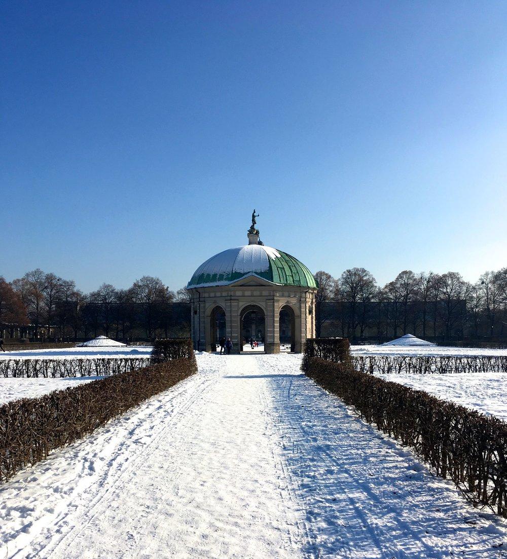 February: In a snowy Hofgarten