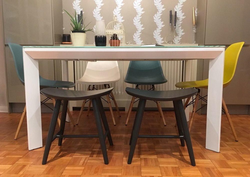 Adding stools from Cult Furniture to our dining room furniture
