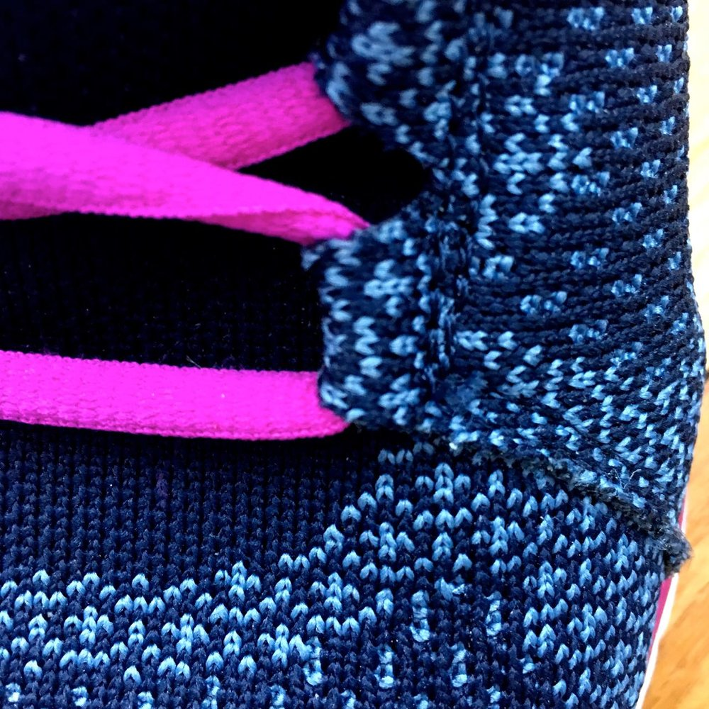A close up of the detail on my Sierra active trainers from Vionic