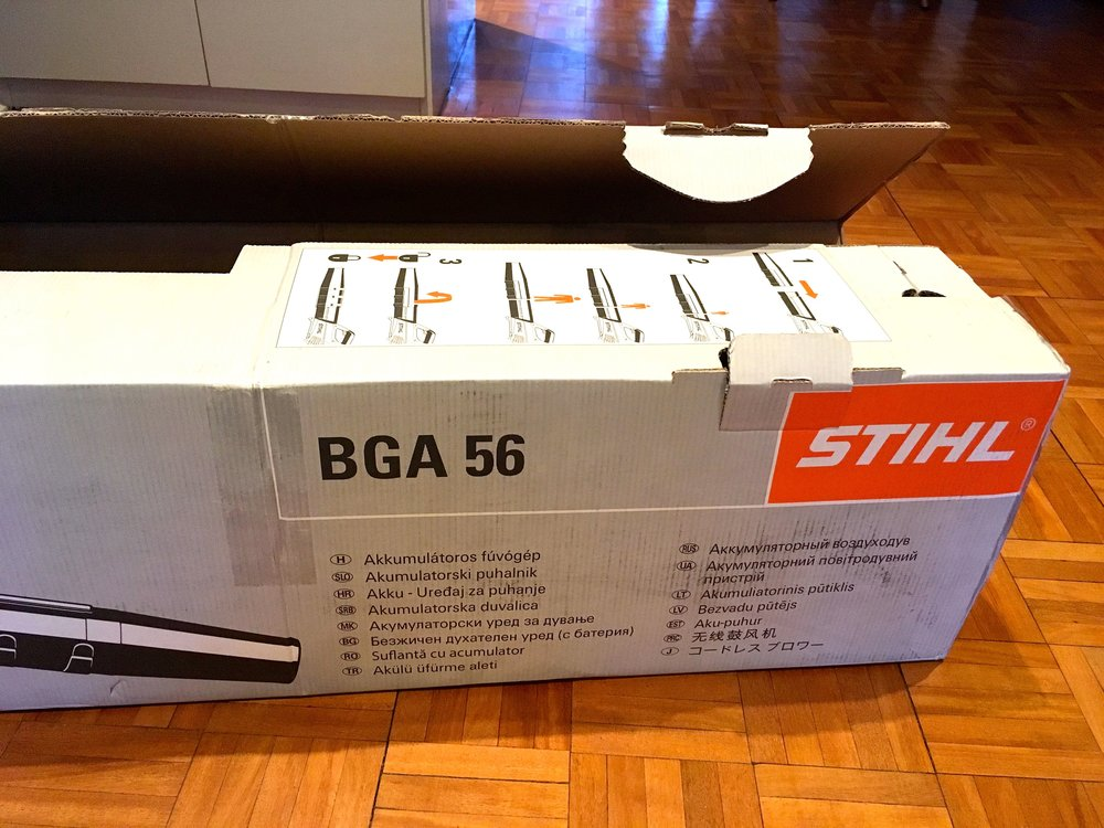 It's arrived - my Stihl leaf blower (BGA 56)