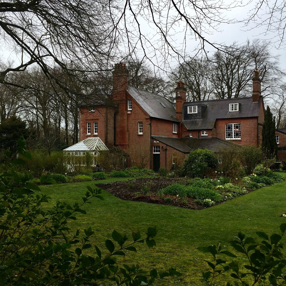 Looking back to the house from the woodland walk