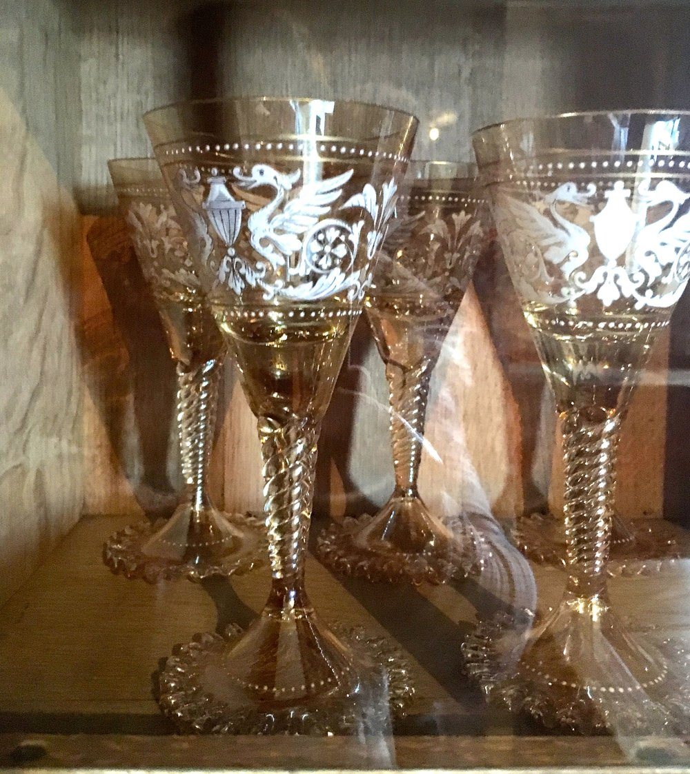 EXQUISITE GLASSWARE AT CASTLE DROGO