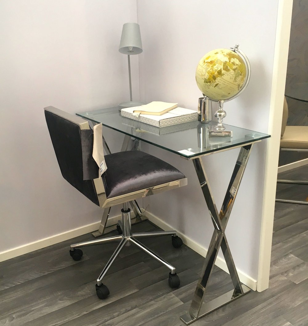 A stylish desk that would add elegance to any space on the Furnish your home stand at the Ideal Home Show